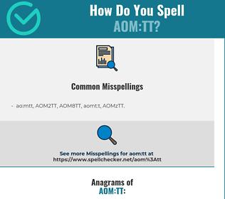 Correct spelling for AOM:TT