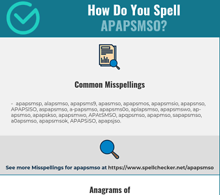 Correct spelling for APAPSMSO