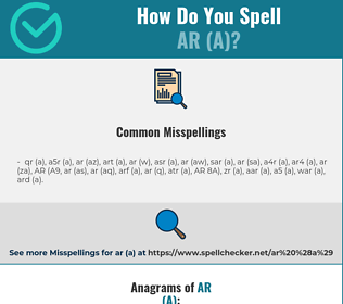 Correct spelling for AR (A)