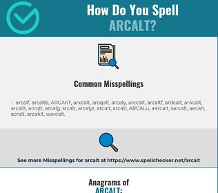 Correct spelling for ARCALT