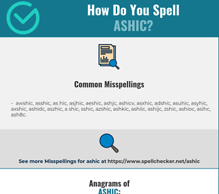 Correct spelling for ASHIC