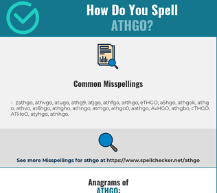 Correct spelling for ATHGO