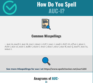 Correct spelling for AUC-I