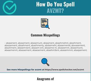 Correct spelling for AVZMT