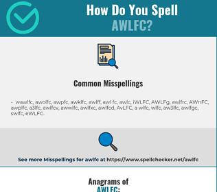 Correct spelling for AWLFC