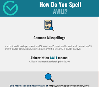 Correct spelling for AWLI