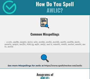 Correct spelling for AWLIC