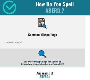 Correct spelling for Aberd.