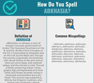 Correct spelling for Abkhasia