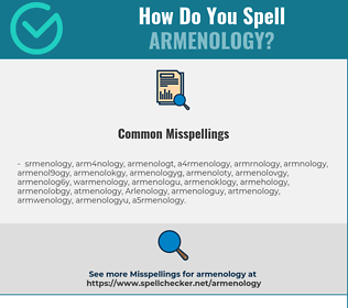Correct spelling for Armenology