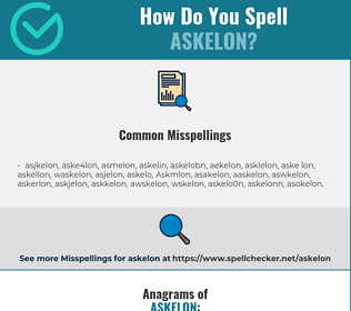 Correct spelling for Askelon