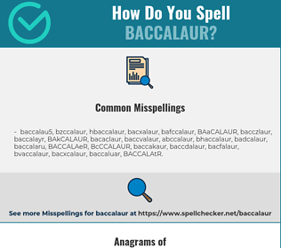 Correct spelling for BACCALAUR