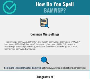 Correct spelling for BAMWSP