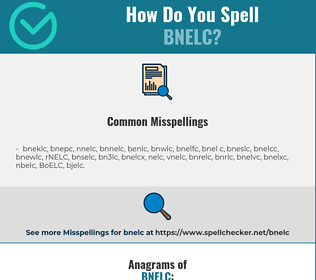Correct spelling for BNELC