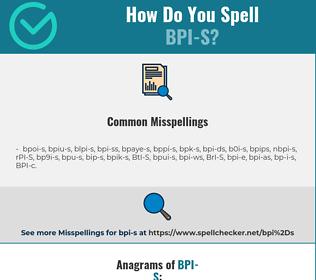Correct spelling for BPI-S
