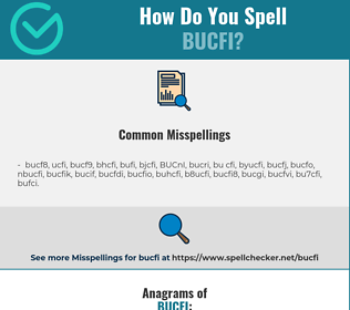 Correct spelling for BUCFI