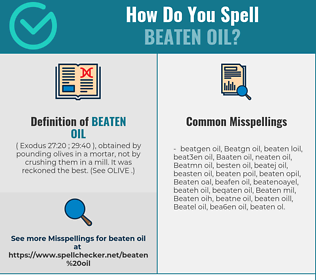 Correct spelling for Beaten oil