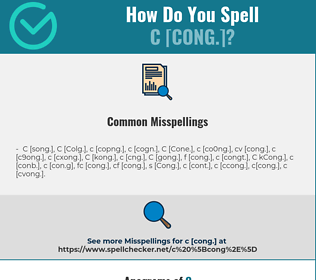 Correct spelling for C [Cong.]