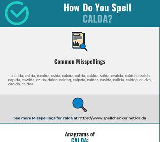 Correct spelling for CALDA