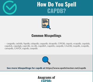 Correct spelling for CAPDB