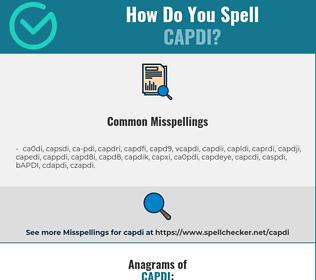 Correct spelling for CAPDI
