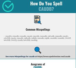 Correct spelling for CAUDB