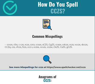 Correct spelling for CCZS