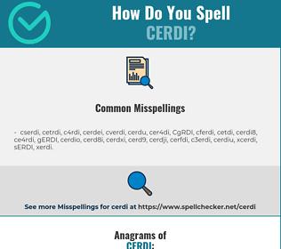 Correct spelling for CERDI