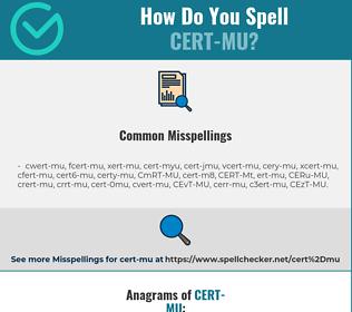 Correct spelling for CERT-MU