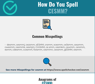 Correct spelling for CESMM