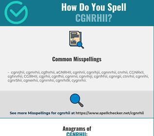 Correct spelling for CGNRHII