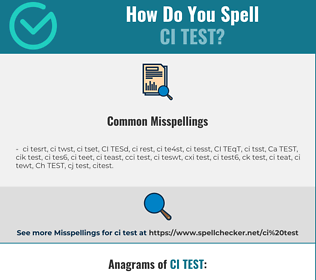 Correct spelling for CI TEST