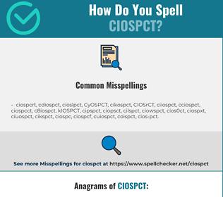 Correct spelling for CIOSPCT