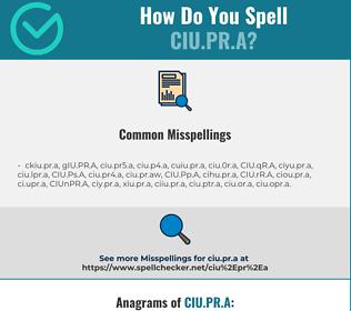 Correct spelling for CIU.PR.A