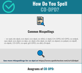 Correct spelling for CO-DPD