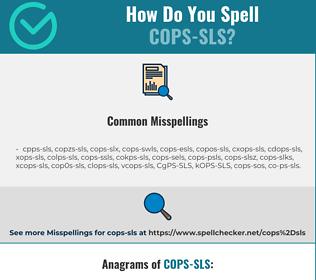 Correct spelling for COPS-SLS