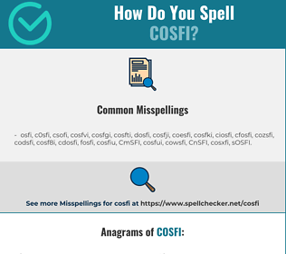 Correct spelling for COSFI