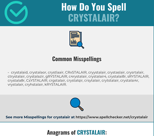 Correct spelling for CRYSTALAIR