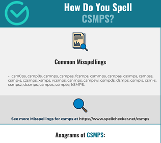 Correct spelling for CSMPS