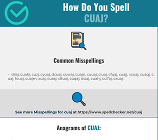 Correct spelling for CUAJ