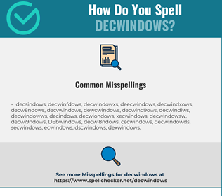 Correct spelling for DECwindows