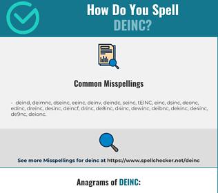 Correct spelling for DEINC