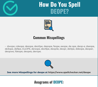 Correct spelling for DEOPE