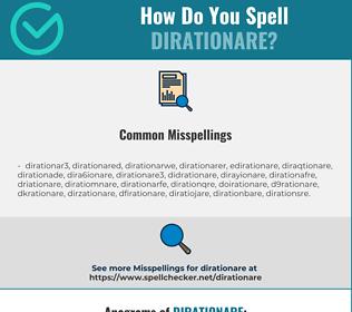 Correct spelling for DIRATIONARE