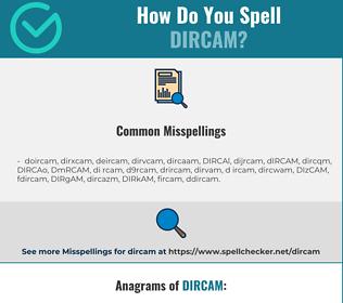 Correct spelling for DIRCAM