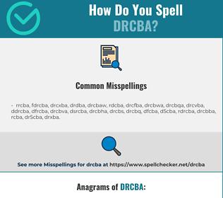 Correct spelling for DRCBA