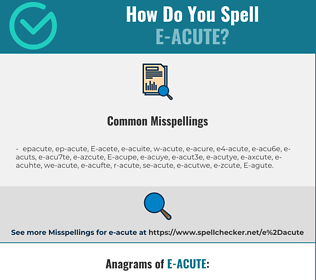 Correct spelling for E-acute