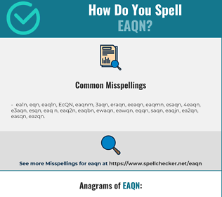 Correct spelling for EAQN