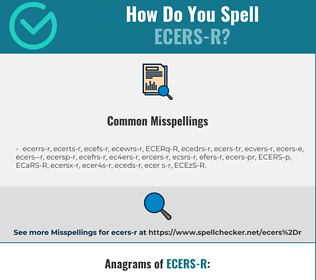 Correct spelling for ECERS-R