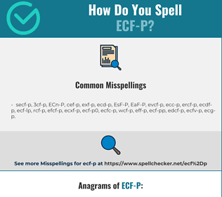 Correct spelling for ECF-P